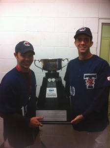 OUA Championship Trophy with Ryan and Tyler